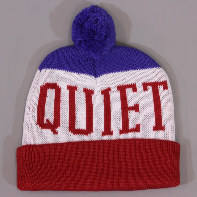 The Quiet Life Tre Stocking Beanie Red and Blue
