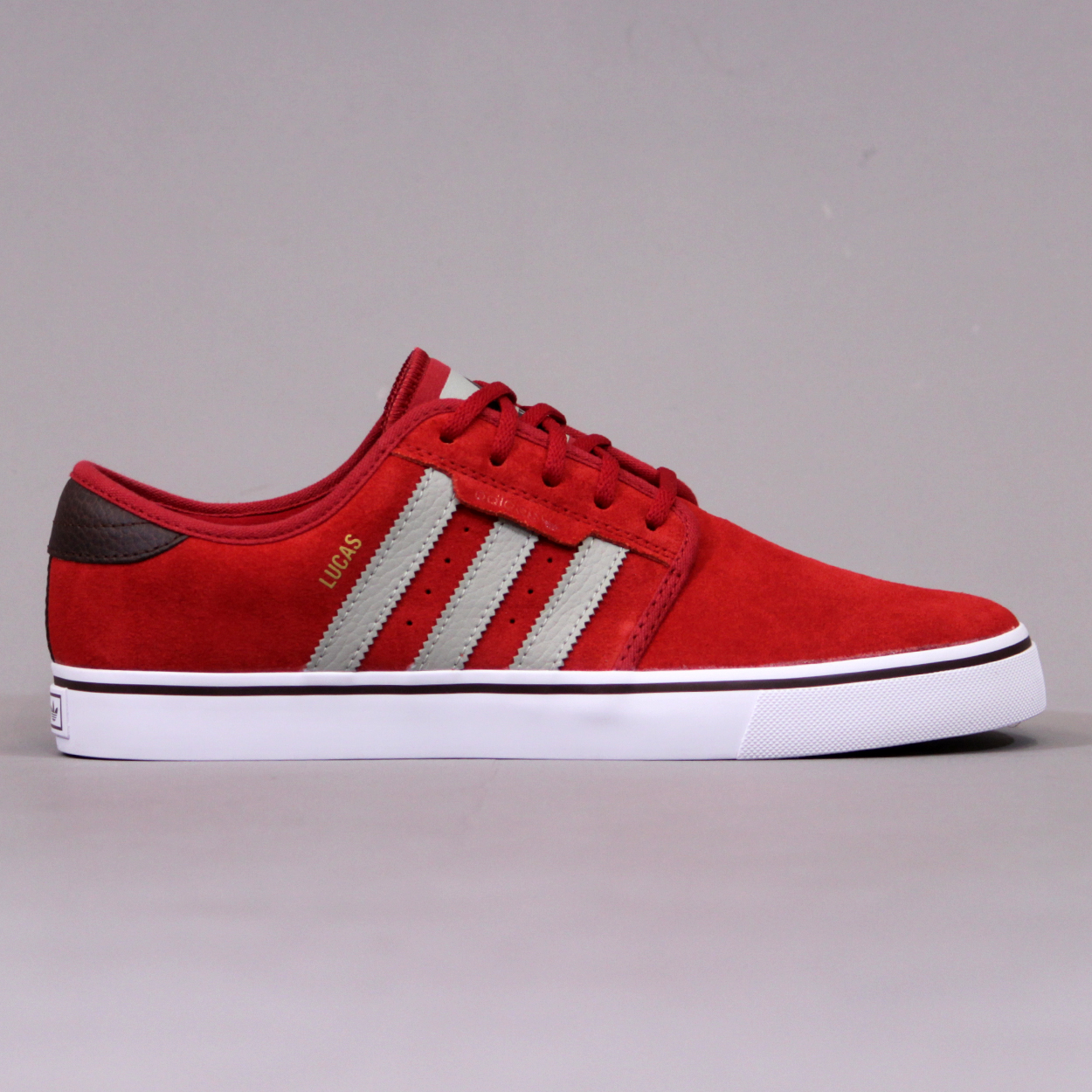 uk availability 04f91 92427 Adidas Seeley Pro Lucas Shoes - University Red and Sesame £33.00