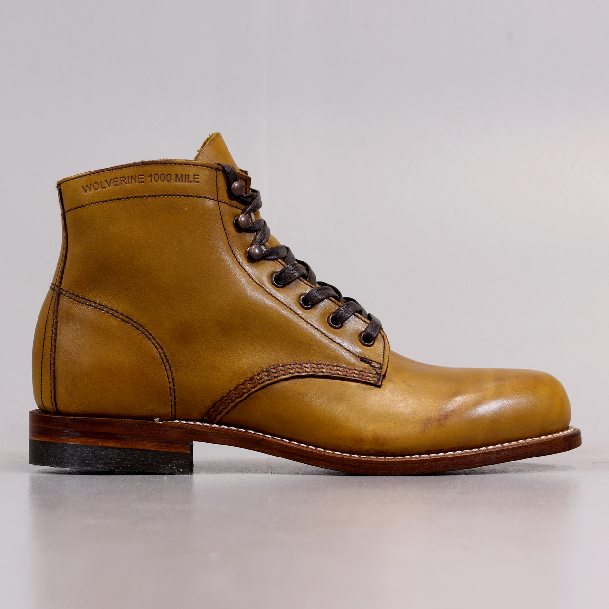04a884a3e59 Wolverine Mens 1000 Mile Boots Tan D Outdoor Country Shoes Life £224.25