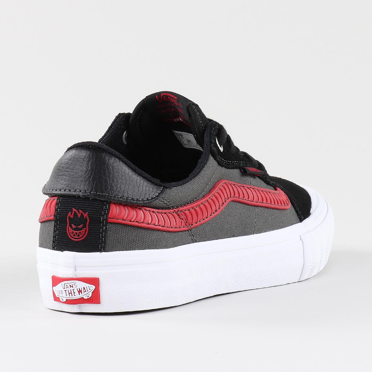 c666e54f0af Vans x Spitfire Skateboarding Style 112 Pro Shoes Black Grey Red £39.90