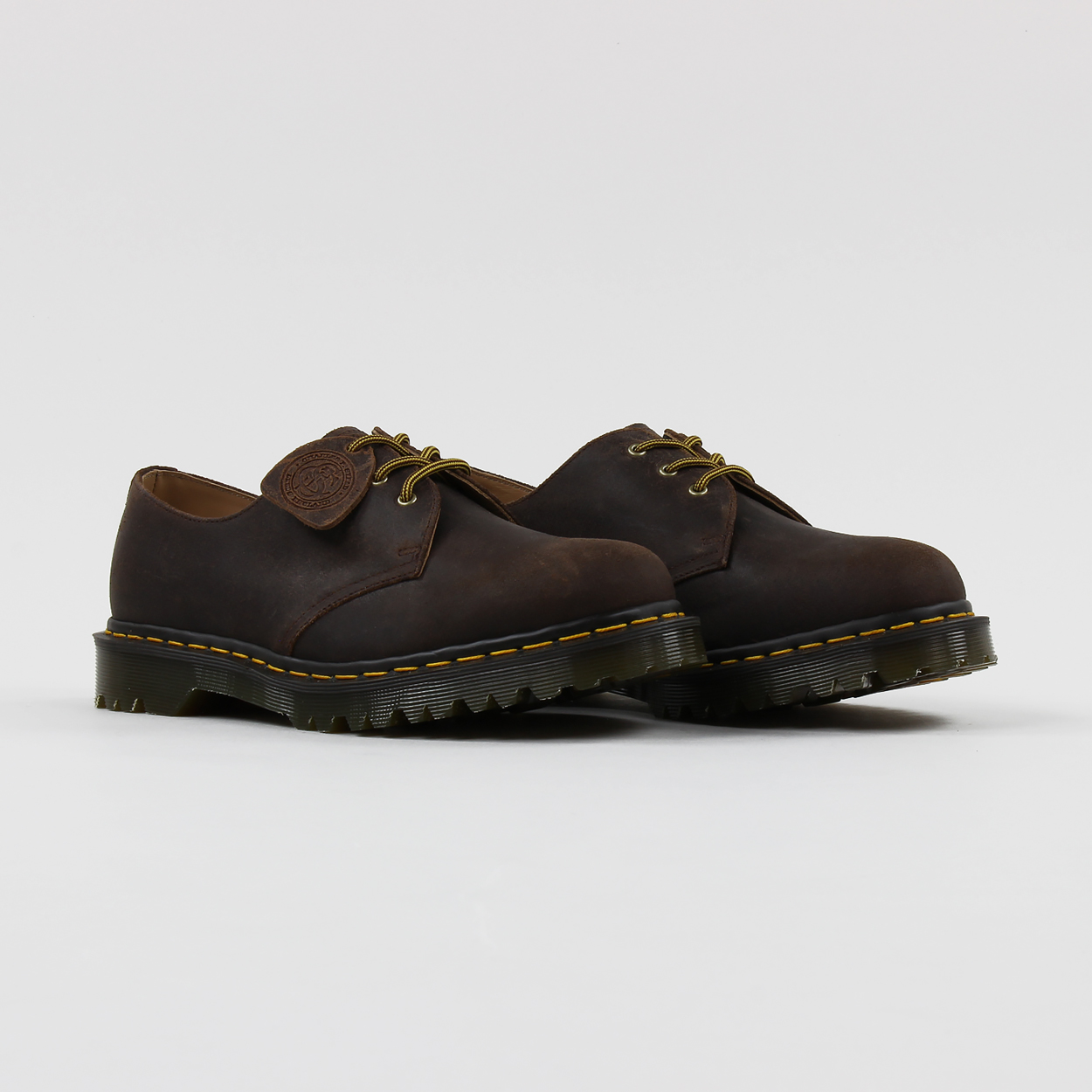 amazon huge sale new collection Dr Martens Made In England 1461 Shoes Mid Brown Wax ...