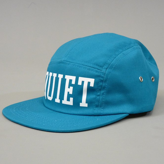 The Quiet Life Big Text Five Panel Cap - Teal