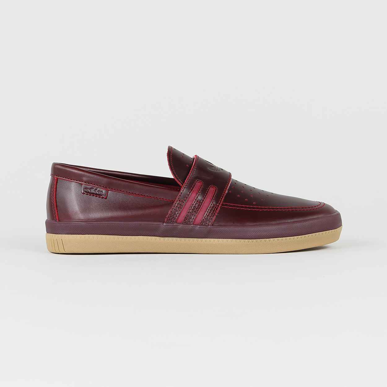 reputable site 6b8cd 98a85 Adidas Skateboarding Mens Acapulco Leather Loafer Shoes Burg