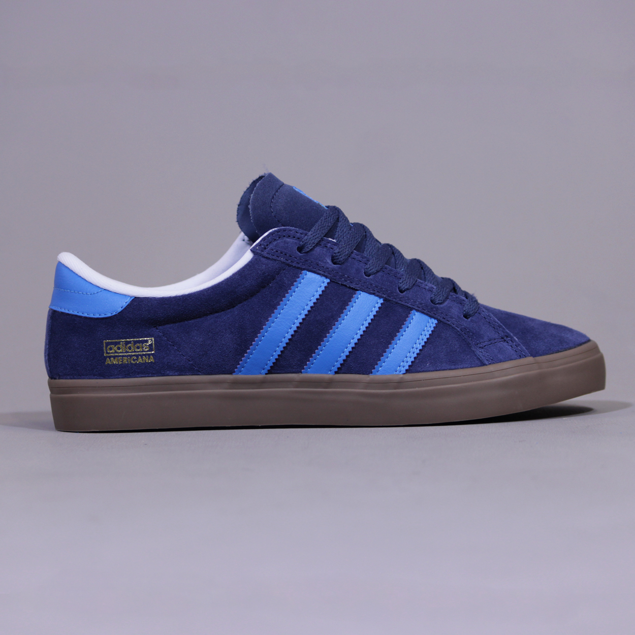 Adidas Americana Vin Low Shoes Trainers Sneakers University Blue £30.00 80a3bd8eee30