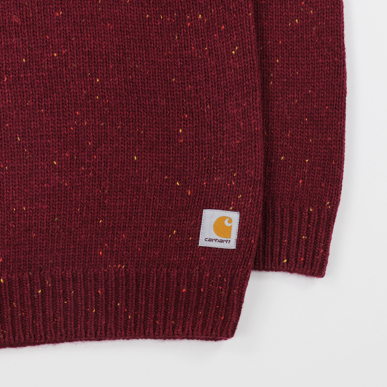 c252622bdf6cd A sweater from Carhartt WIP made from a blend of wool with cotton and  acrylic. The knitted design has raglan sleeves