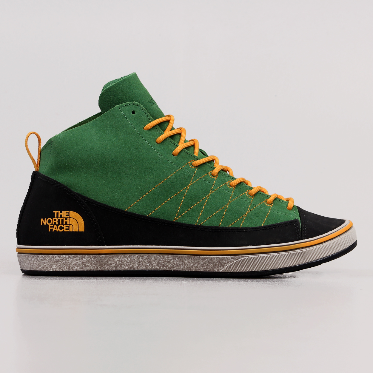 Shoes The North Face Mens Approach Mid Shoes Sullivan Green Brushfire Orange