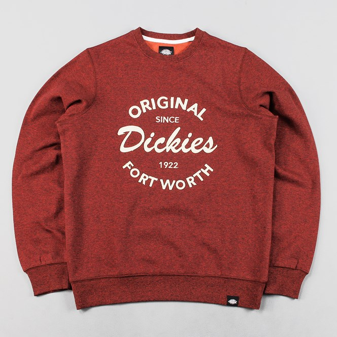 Dickies Armona Crew Neck Jumper Red Marl
