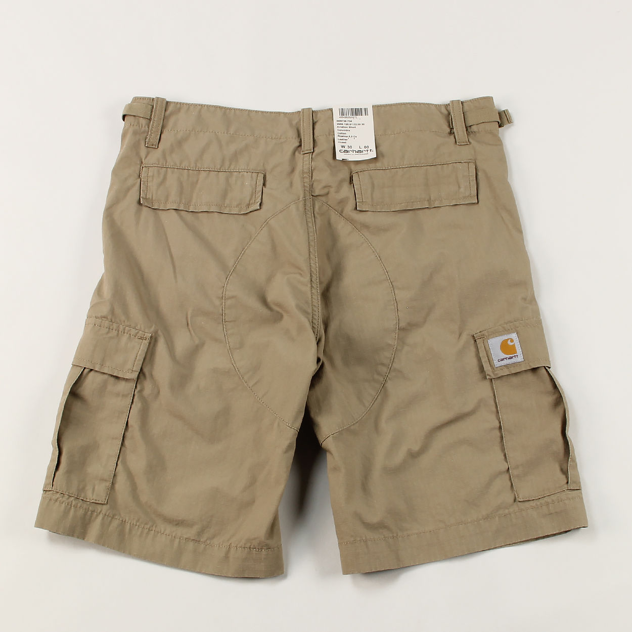 d90e42c732 A pair of super tough and durable shorts made from 100% cotton in a ripstop  weave. They have a six pocket design and a slim fit with a low waist.  Carhartt's ...