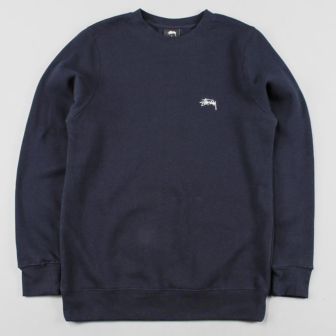 Stussy Back Arc Crew Sweater Navy