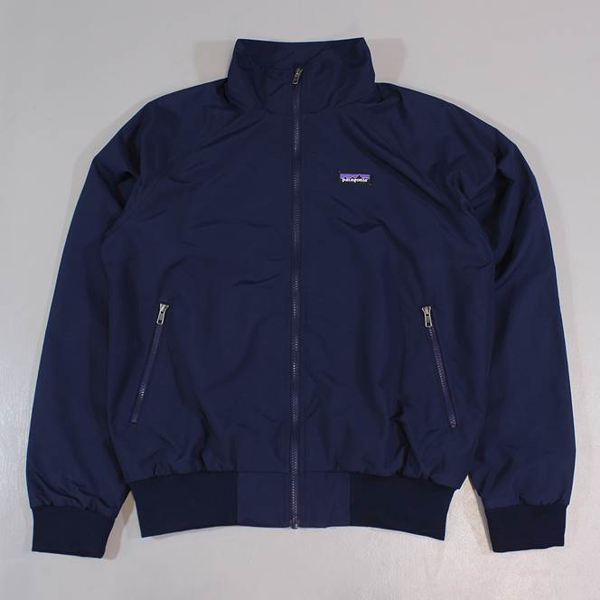 Patagonia Baggies Mens Outdoor Bomber Jacket Navy Blue Dwr