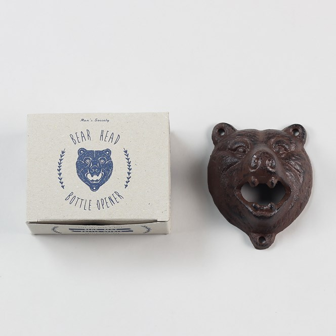 Mens Society Bear Bottle Opener