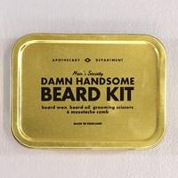 mens society beard grooming kit dapper gentlemen neat moustache. Black Bedroom Furniture Sets. Home Design Ideas