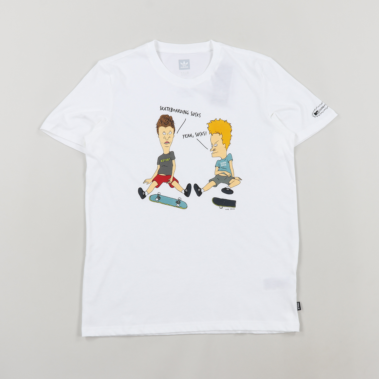 f953fc8df4f Adidas x Beavis and Butt-Head Mens Short Sleeve T Shirt White £19.00