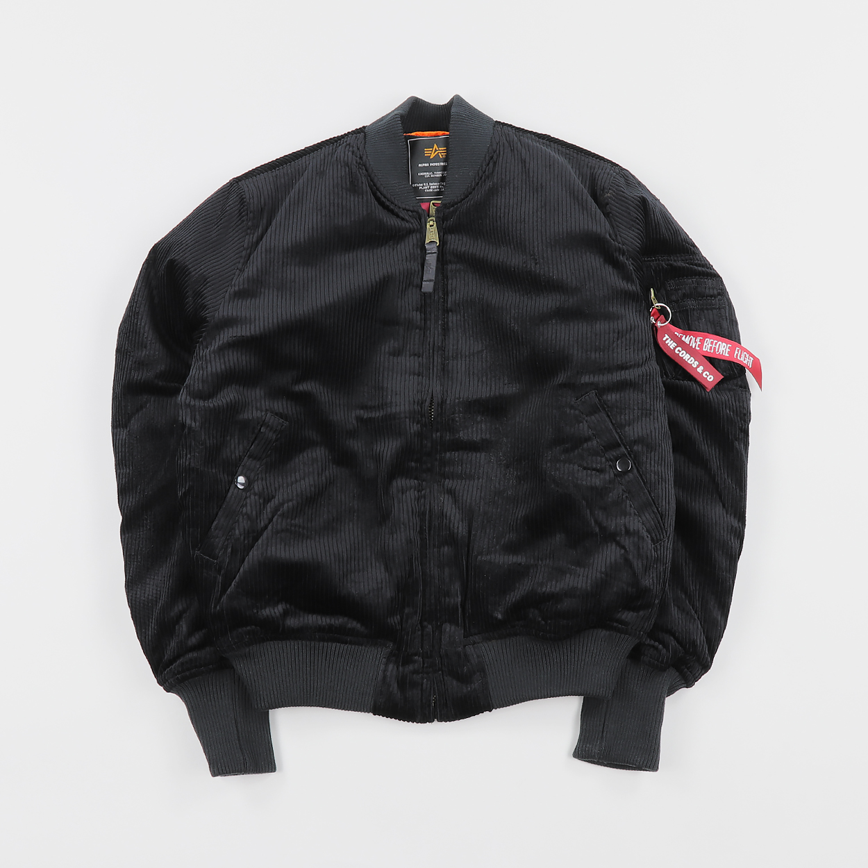 e54b532c0 The Cords and Co. x Alpha Industries MA-1 Bomber Jacket Black £121.00