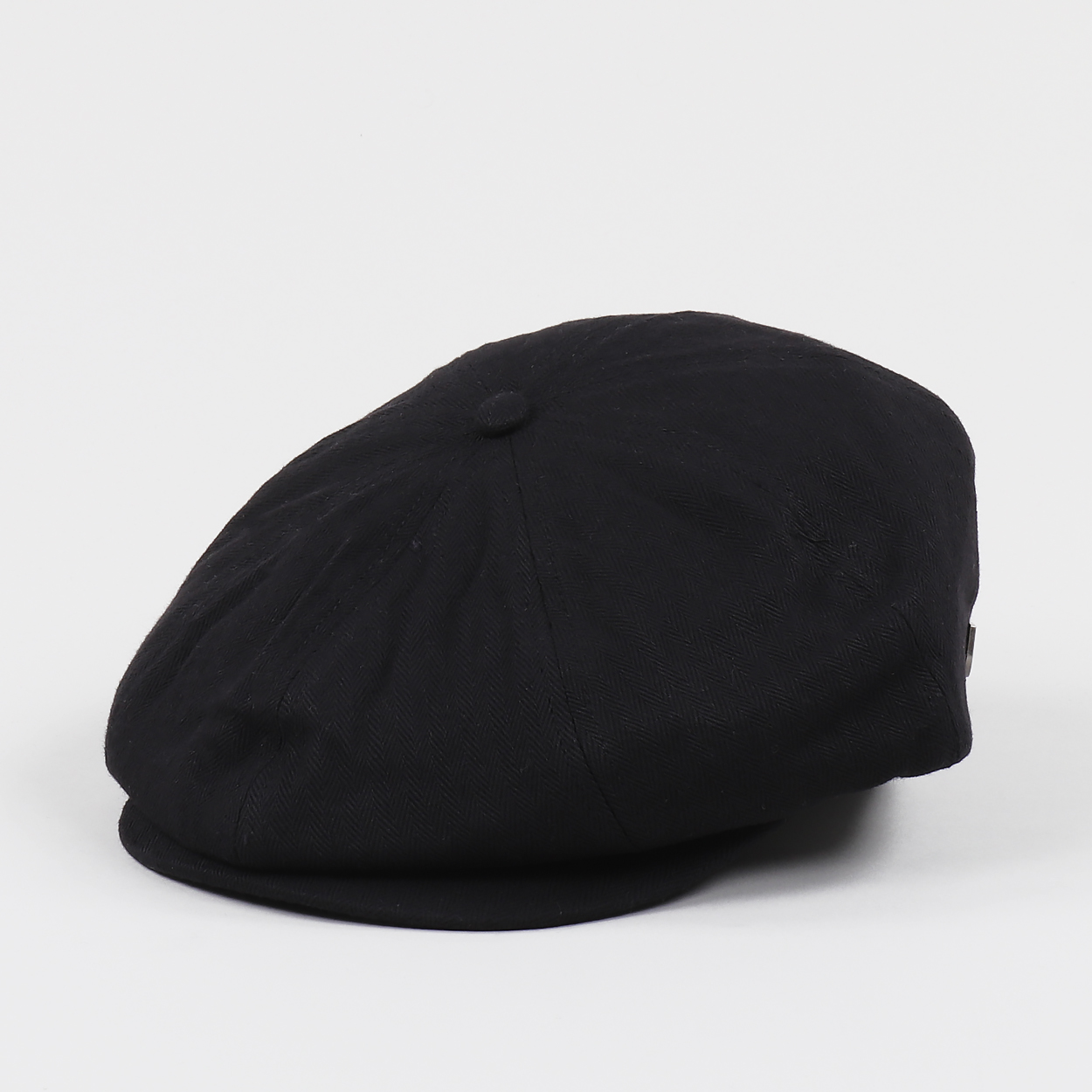 e40d3338 Brixton Brood Cotton Twill Snap Flat Cap Headwear Black £26.25