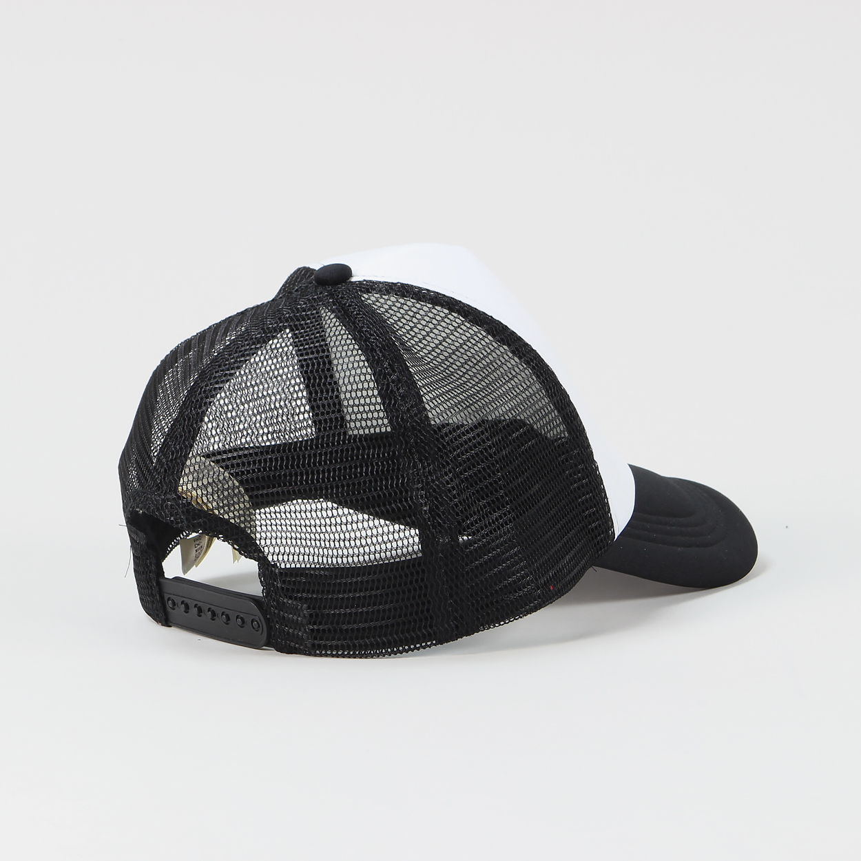 e67883bab69 Lee s mesh trucker cap is a traditional high crown hat with a one size fits  all snapback adjuster to the back and a large printed logo to the front.