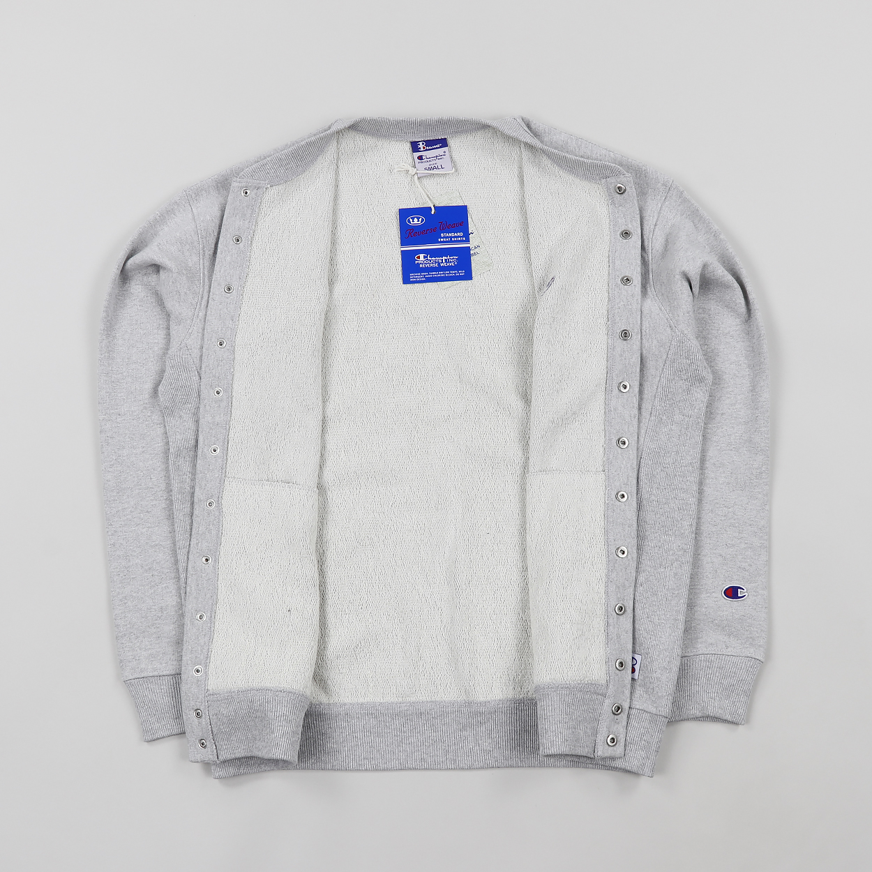 A bomber-style cardigan from Champion s collaboration with Beams. Made from  a soft ec9e7a228