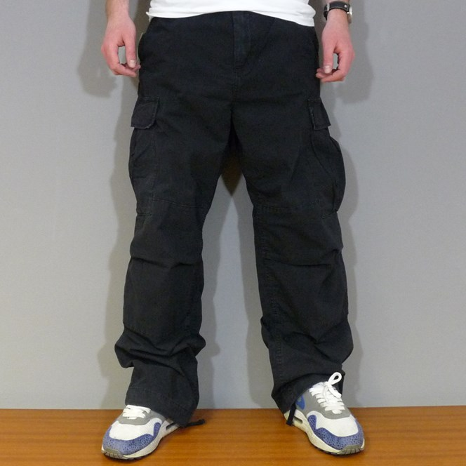Carhartt Cargo Pants - Black Stone Washed
