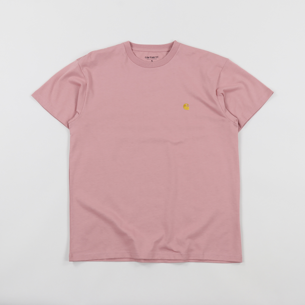 cheap for discount 94cf3 fe9fb Carhartt Work In Progress Chase Cotton T Shirt Soft Rose Gold £21.00