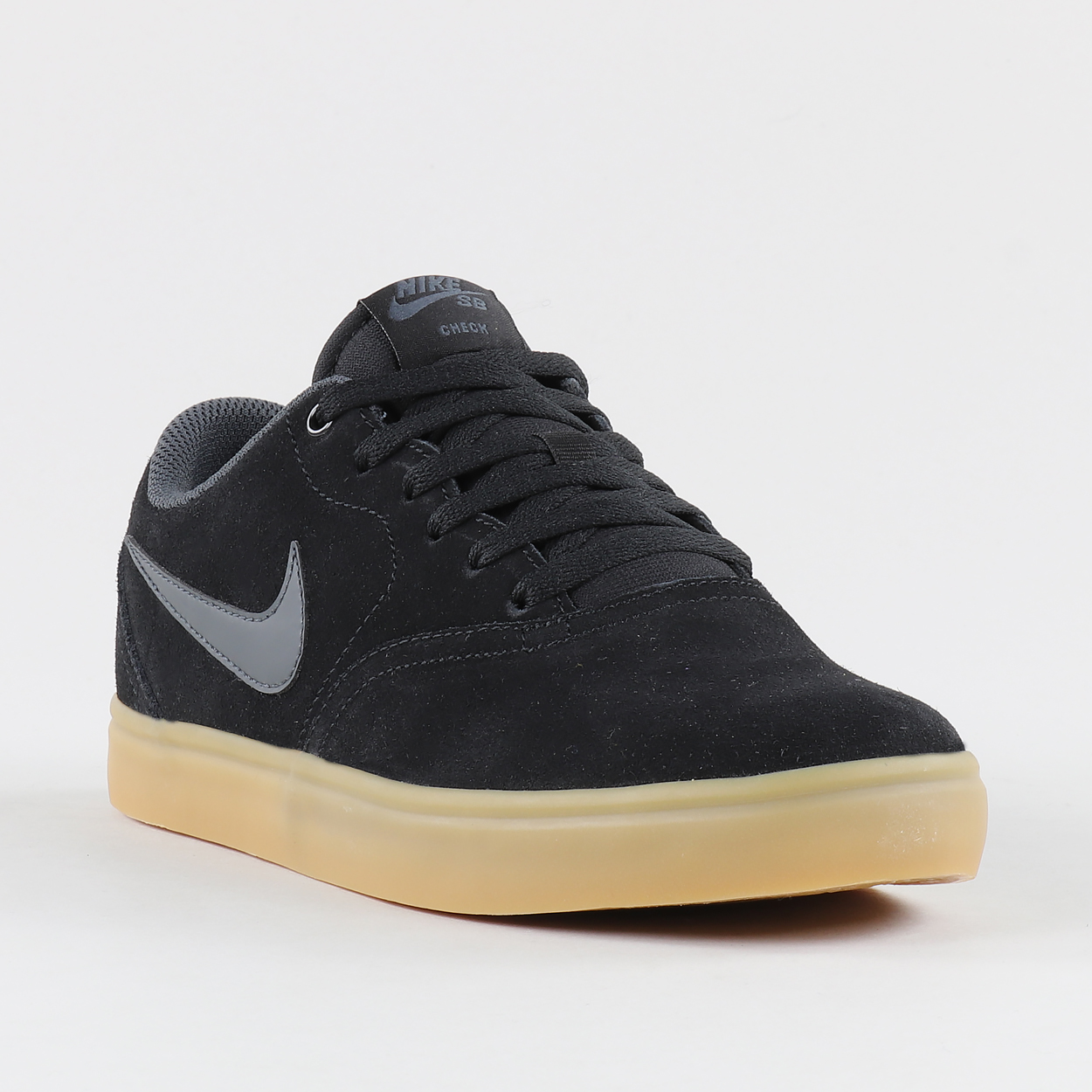 ba7ca165a261 A pair of skate-ready kicks from Nike SB which feature Swoosh detailing and  a Solarsoft insole. The Check Solar shoes are made from suede uppers which  sit ...
