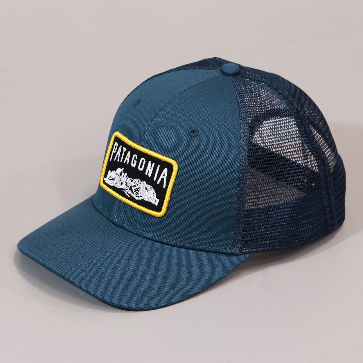154af5fe154 Patagonia Climb A Mountain Outdoor Mesh Trucker Hat Glass Blue £16.50