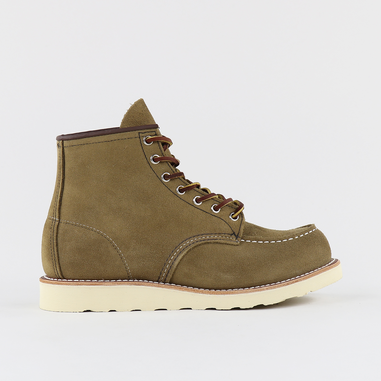 Red Wing Classic Moc Toe Suede Boots Olive