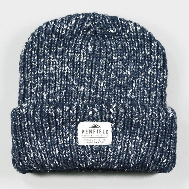 Penfield Conway Melange Knit Beanie Navy