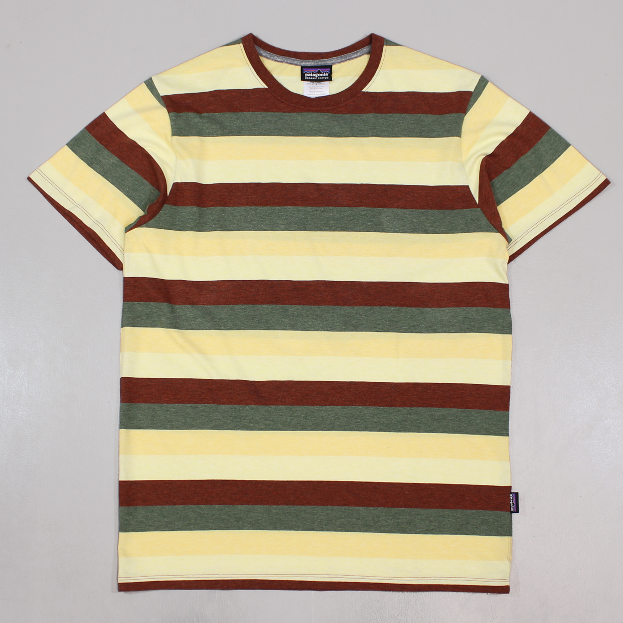 2deb858c Patagonia Mens Daily Tee T Shirt Rusted Iron Striped Pattern £26.25