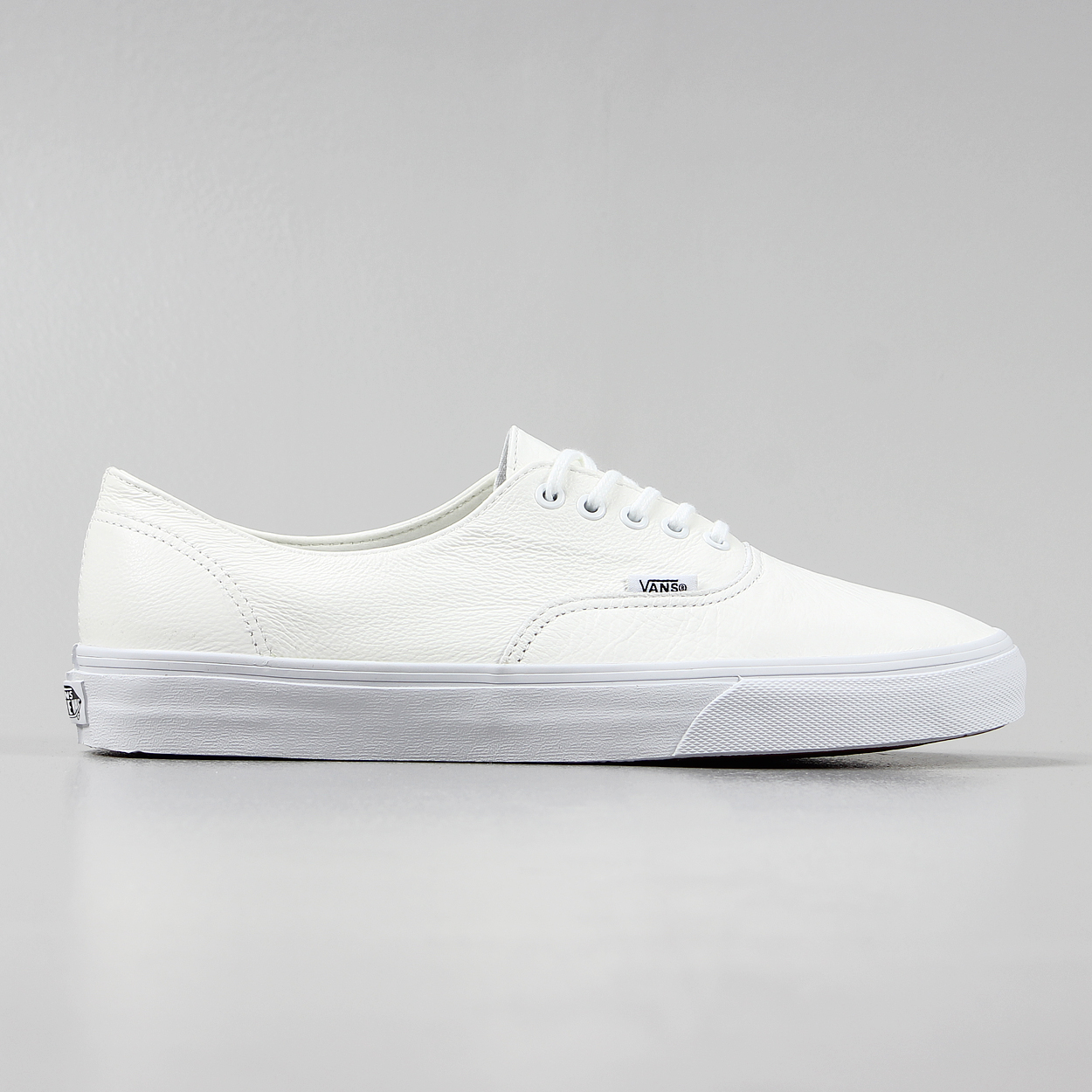 6994d4130e0 Vans Mens Premium Leather Authentic Decon Shoes White Trainers £41.25