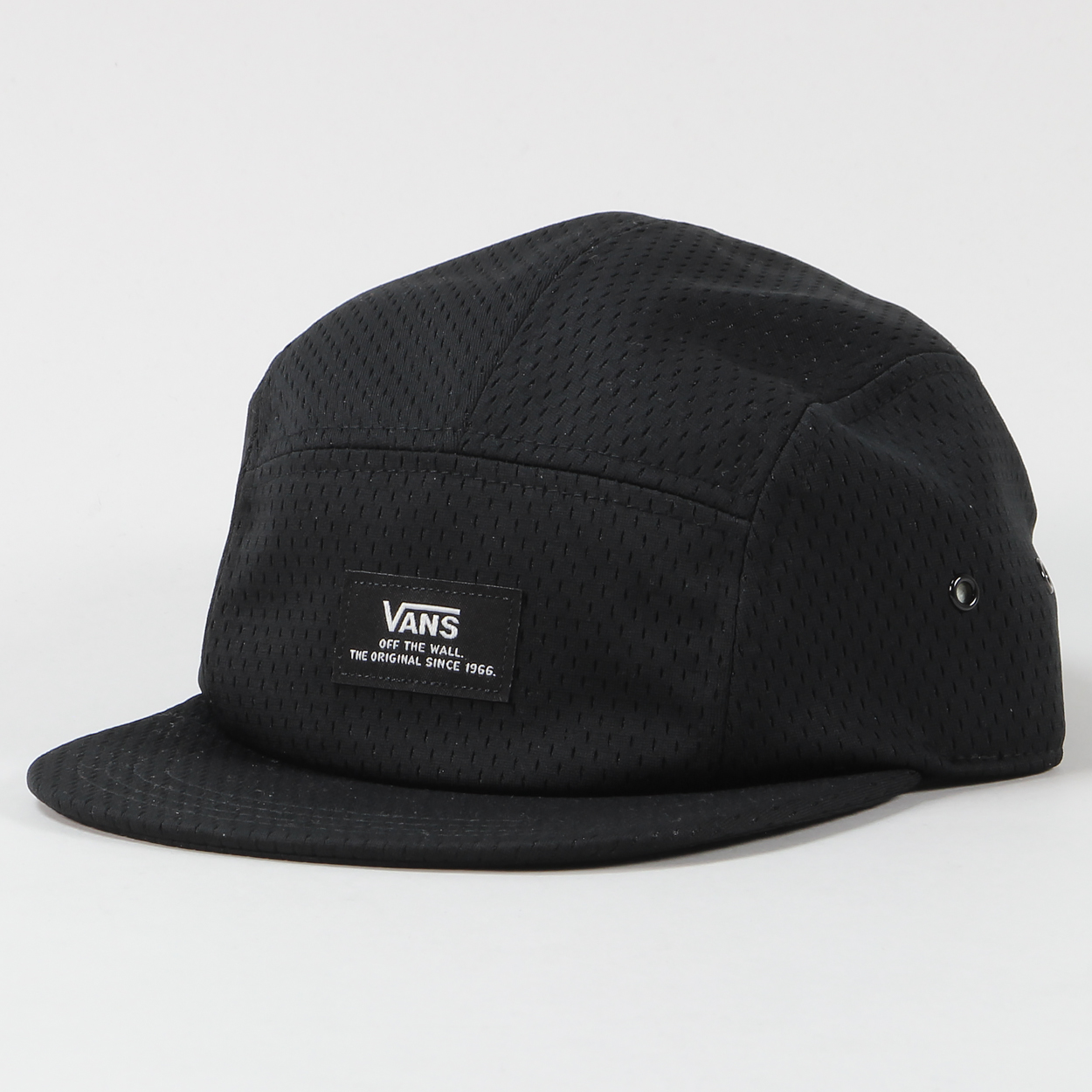 327dd2ce5bb A mesh style five panel cap from the guys at Vans with a one size fits all  adjuster at the back and a flat peak. Great for the board or the beach!