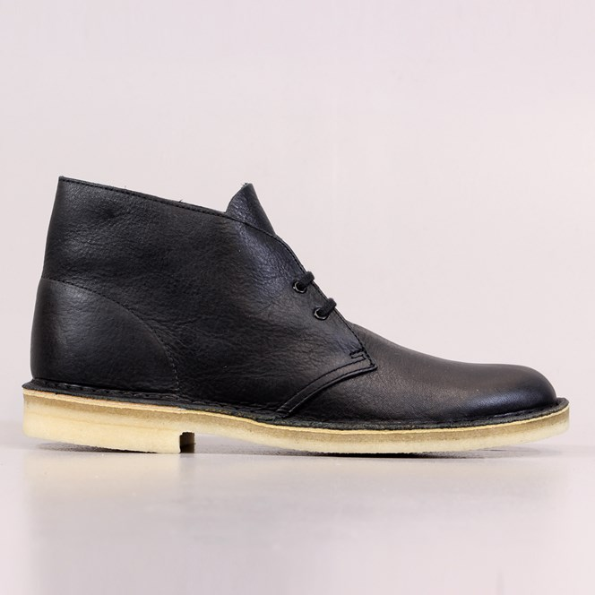 Clarks Originals Desert Boots Black Tumbled Leather