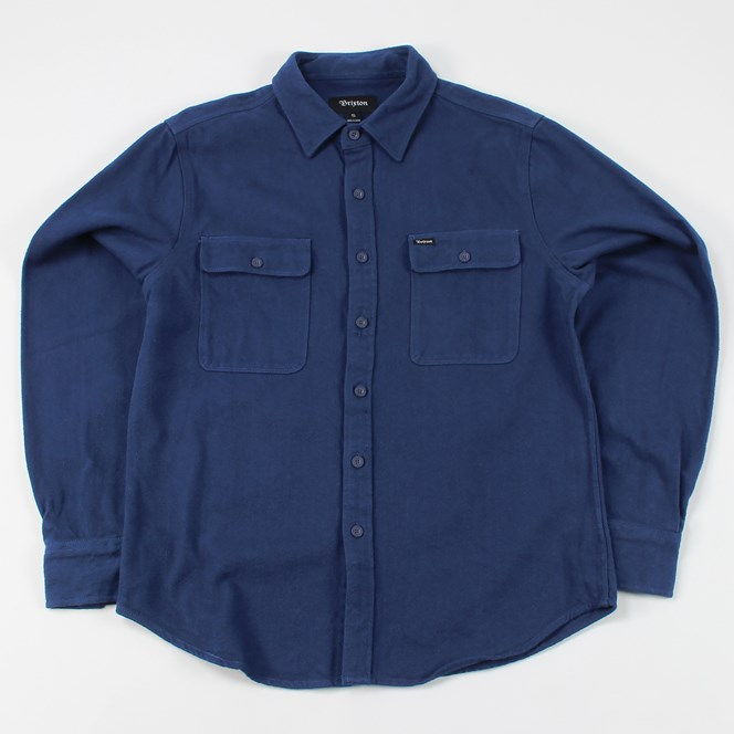 Brixton Donez Twill Long Sleeved Shirt Navy