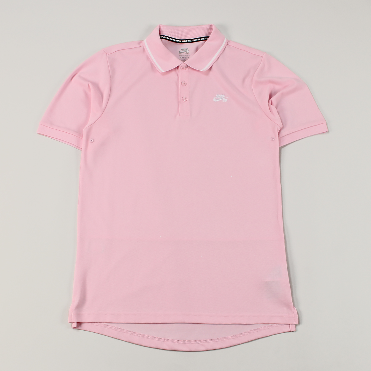 Nike SB Dry Pique Material Embroidered Logo Tip Polo Shirt Pink £30.00 3a1cec90268