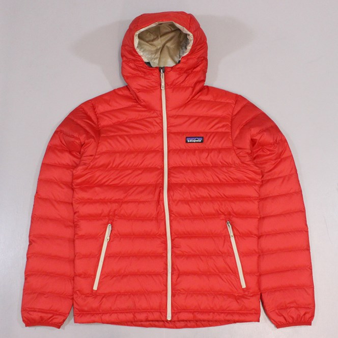 Patagonia Down Sweater Hoody Red