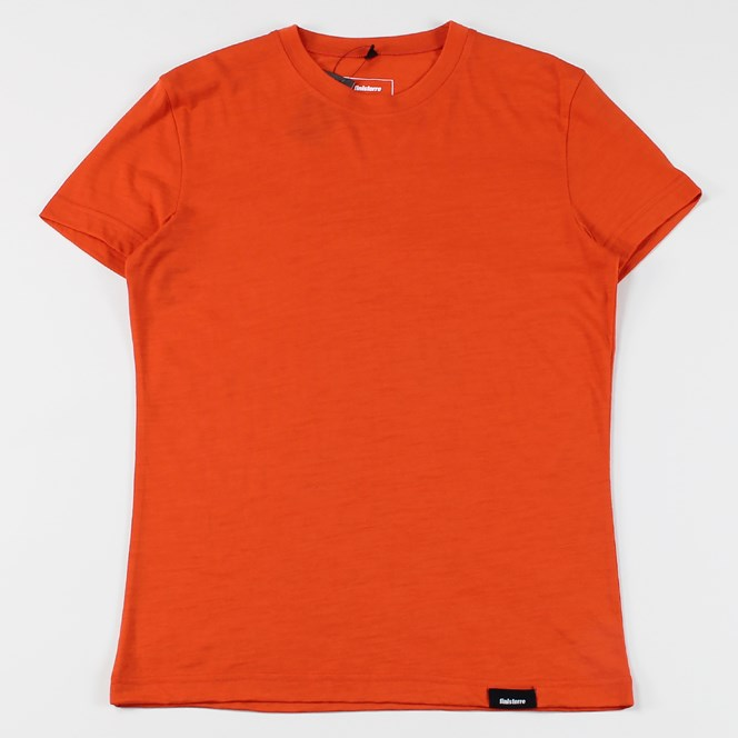Finisterre Eddy Merino Wool T Shirt Red Clay