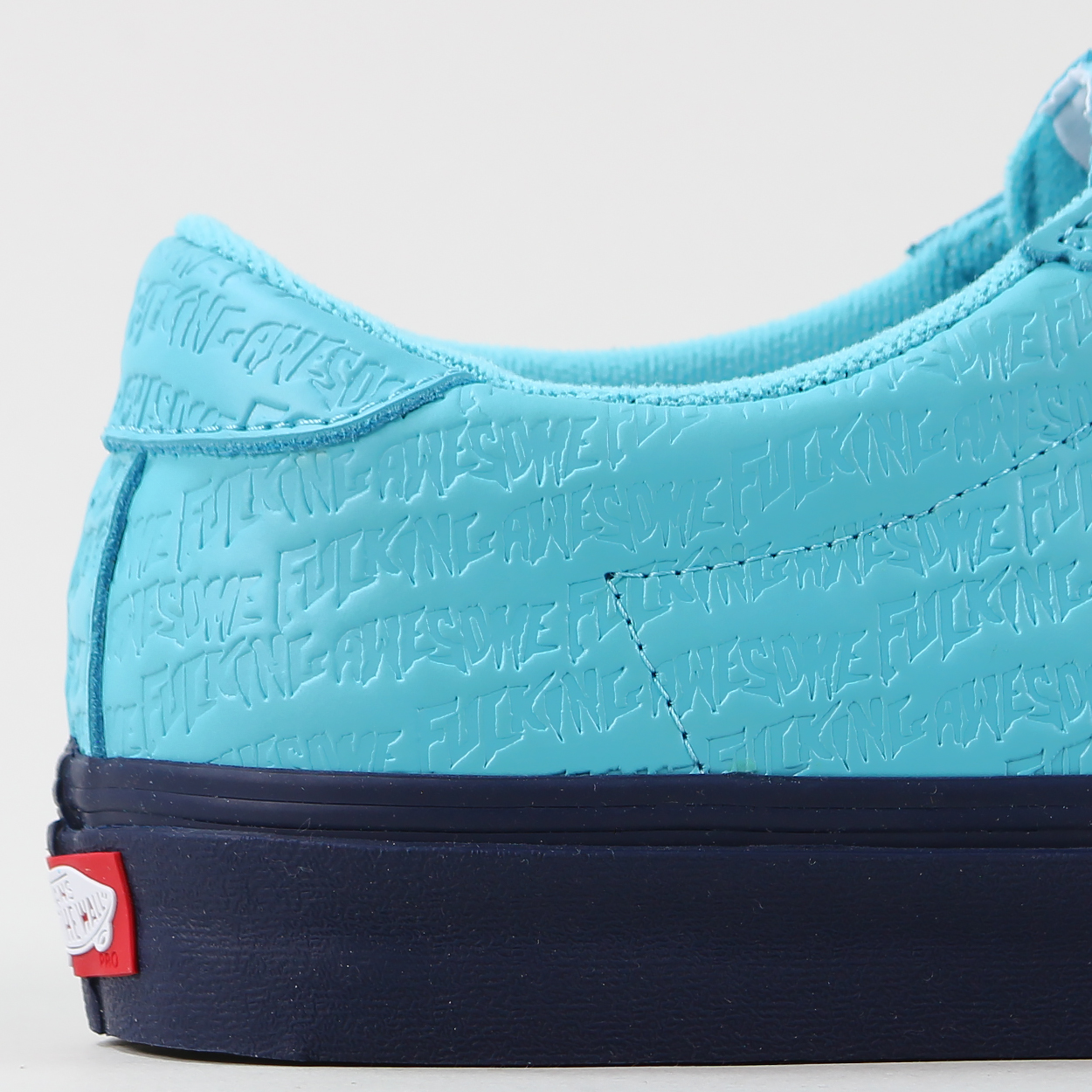 4c7146de3d9 A colaboration shoe between Vans and streetwear high-risers Fucking Awesome.  Features a classic gum waffle tread and an original design on the leather  ...
