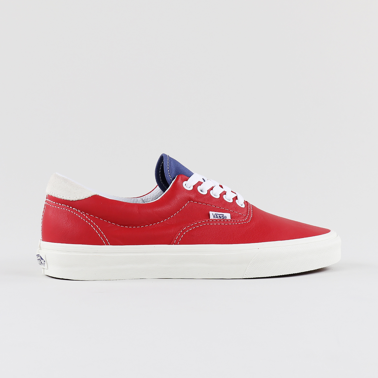 7140616972 Vans Skateboarding Era 59 Leather Shoes Racing Red Bjou Blue £39.90
