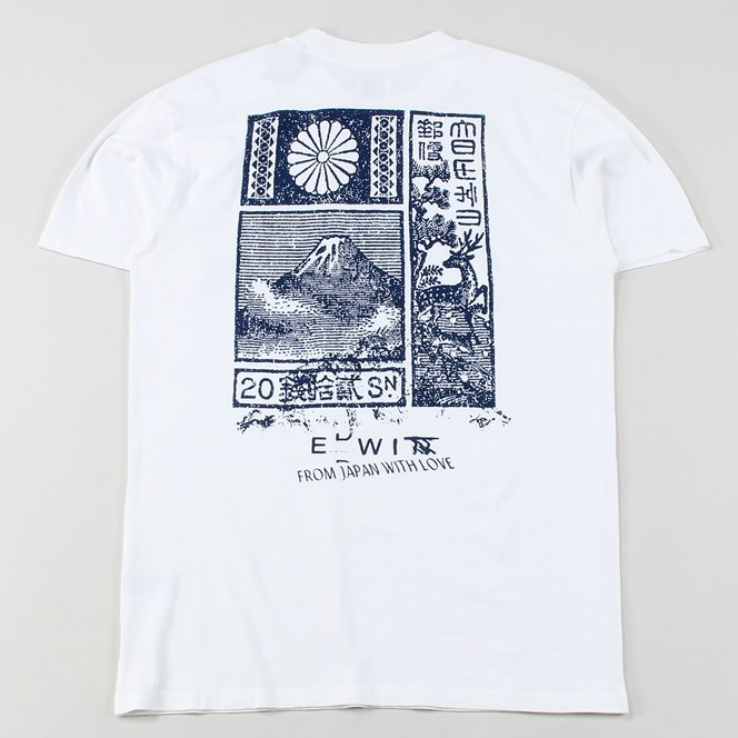 Edwin From Japan With Love T Shirt White
