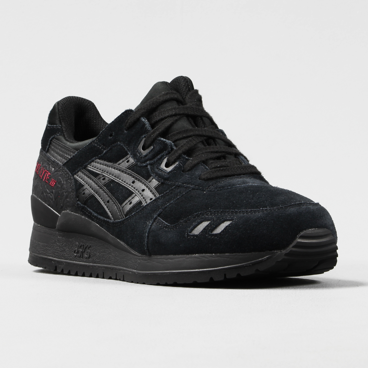 lowest price f913a b2979 Asics Mens Valentines Pack Gel Lyte III Suede Shoes Black ...