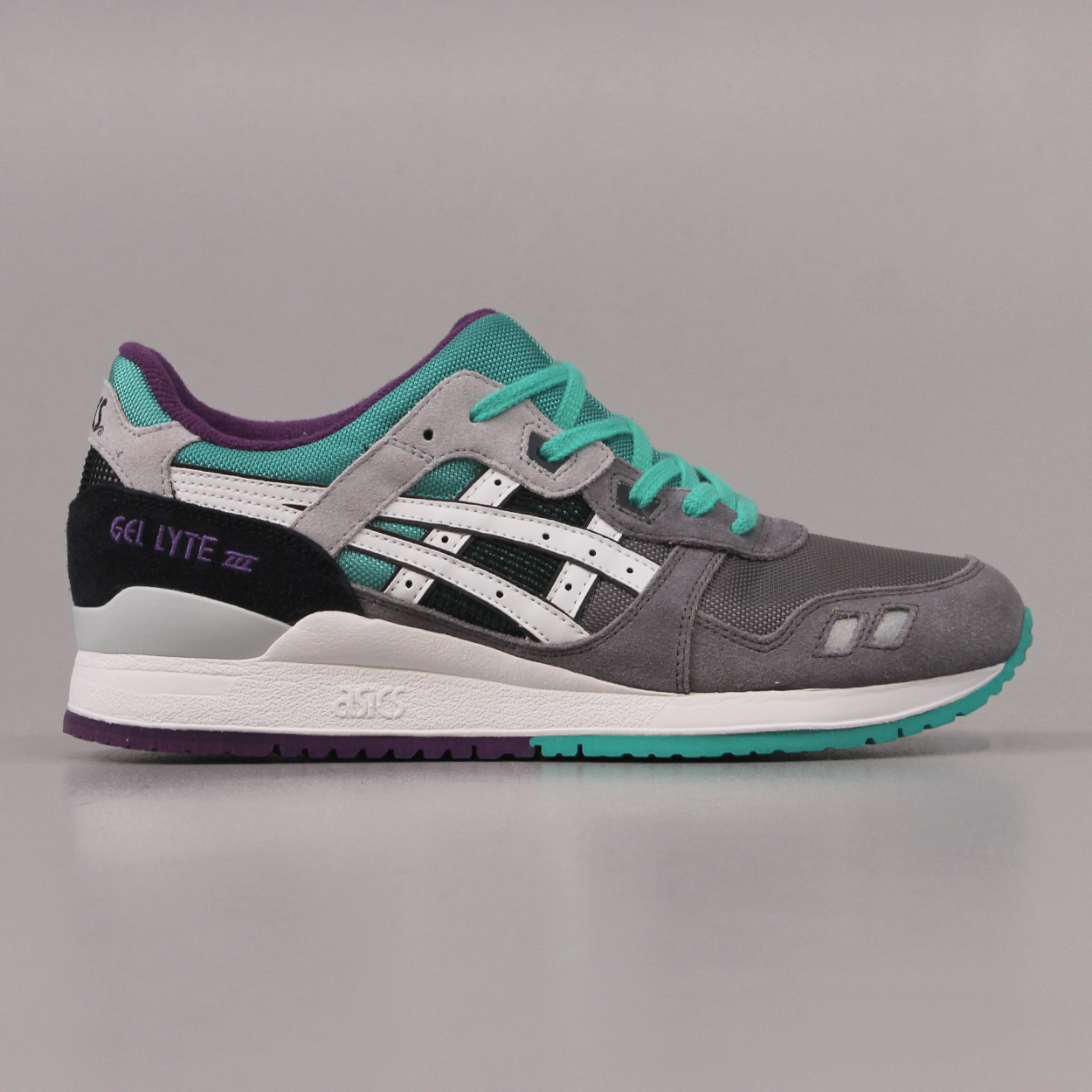 the best attitude 7ff4a 164cd Asics Mens Gel Lyte III Retro Running Trainers Grey White ...