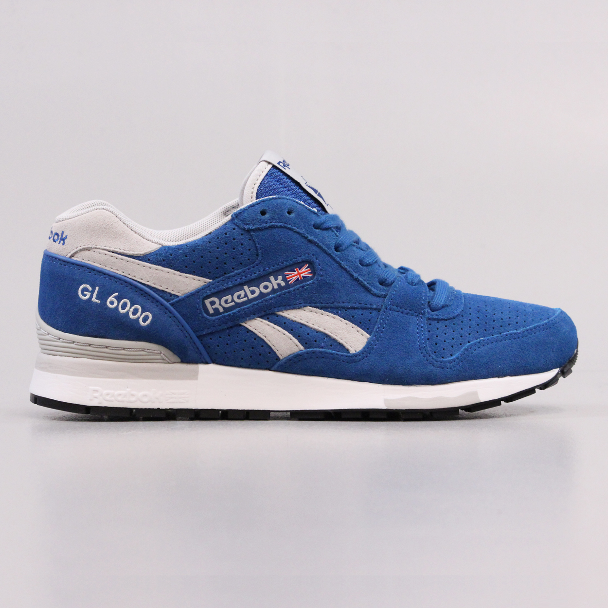 new product 09d2c 99549 Reebok GL 6000 Classic Mens Suede Shoes Persian Blue Grey £39.00
