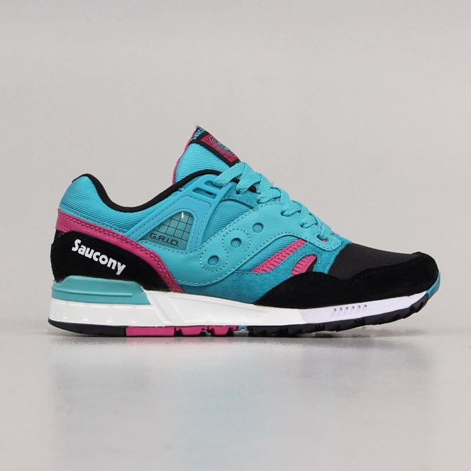 Saucony Grid SD Shoes Teal Black