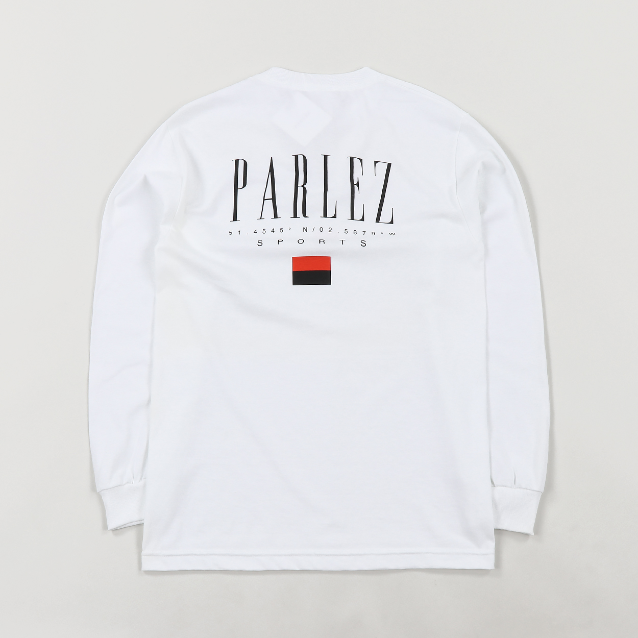 954c3633a2e Parlez Mens Skateboarding Hblock Logo Long Sleeve T Shirt White £30.00