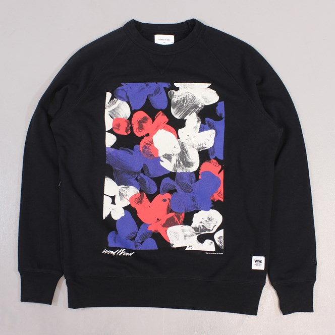 Wood Wood Hester Sweater Painting Black