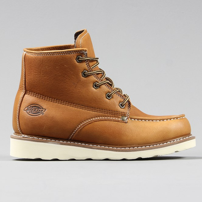 Dickies Illinois Boot Leather Tumble Chestnut Brown