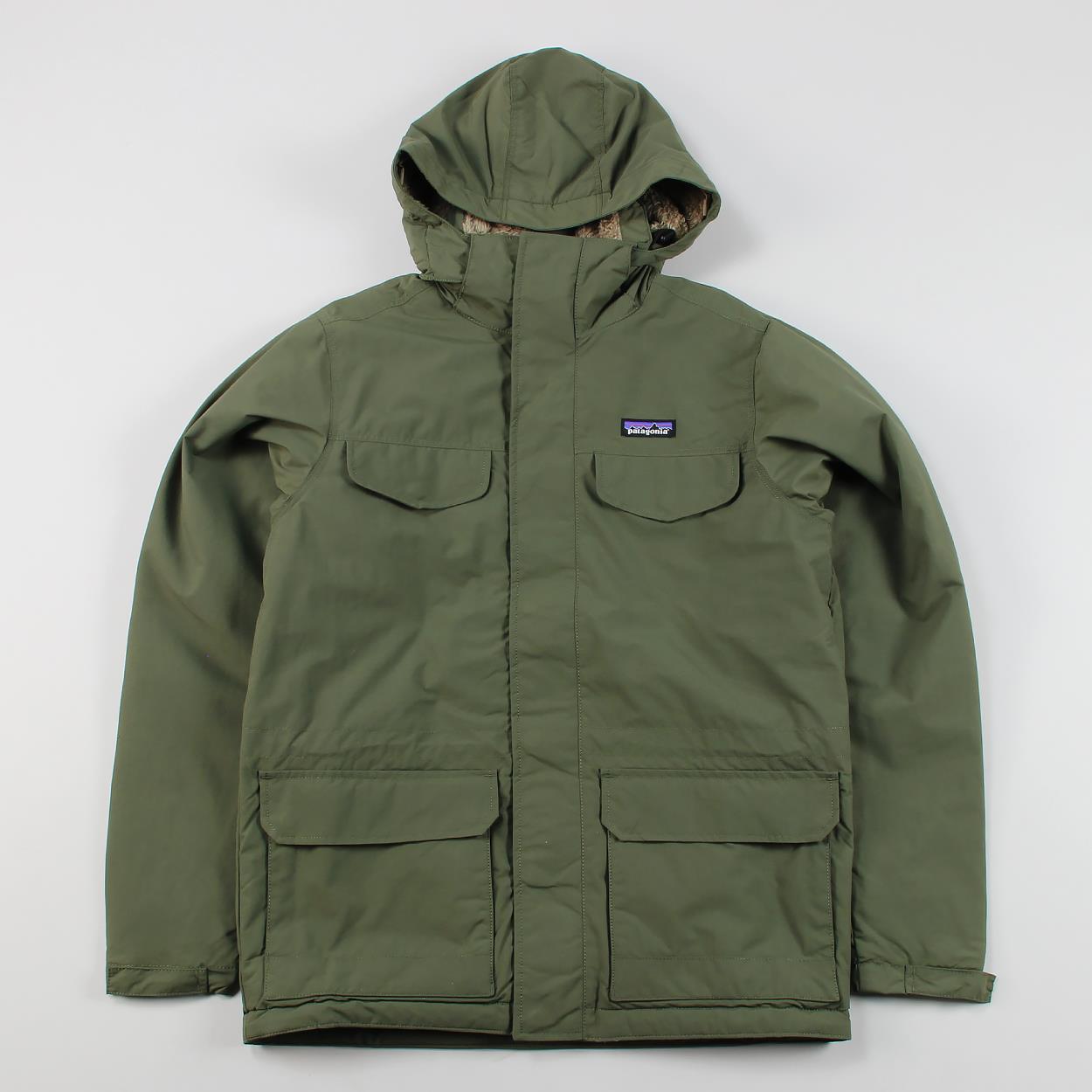 218f8f66f Patagonia Mens Outdoor Winter Waterproof Isthmus Parka Jacket Industrial  Green | eBay