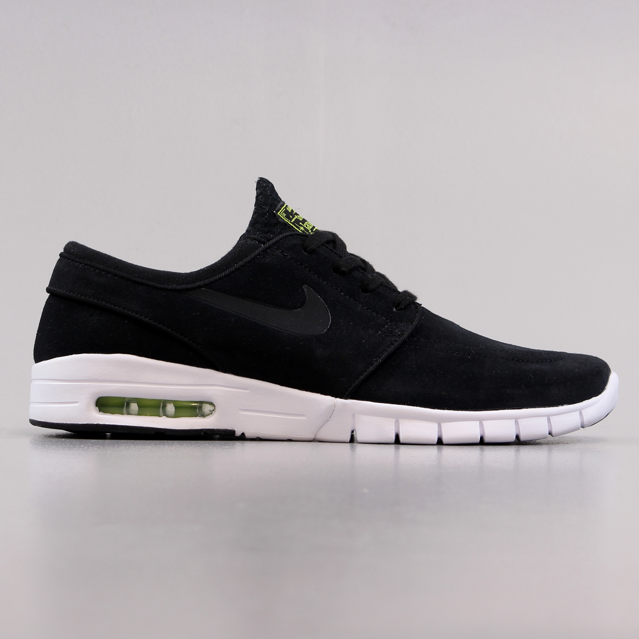 709462d6a669 Nike SB Stefan Janoski Max L Suede Trainers Black Green White £67.50