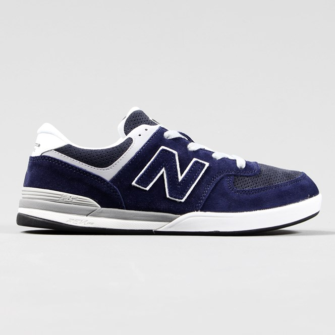 New Balance Numeric Logan S 636 Shoes Navy Blue Grey