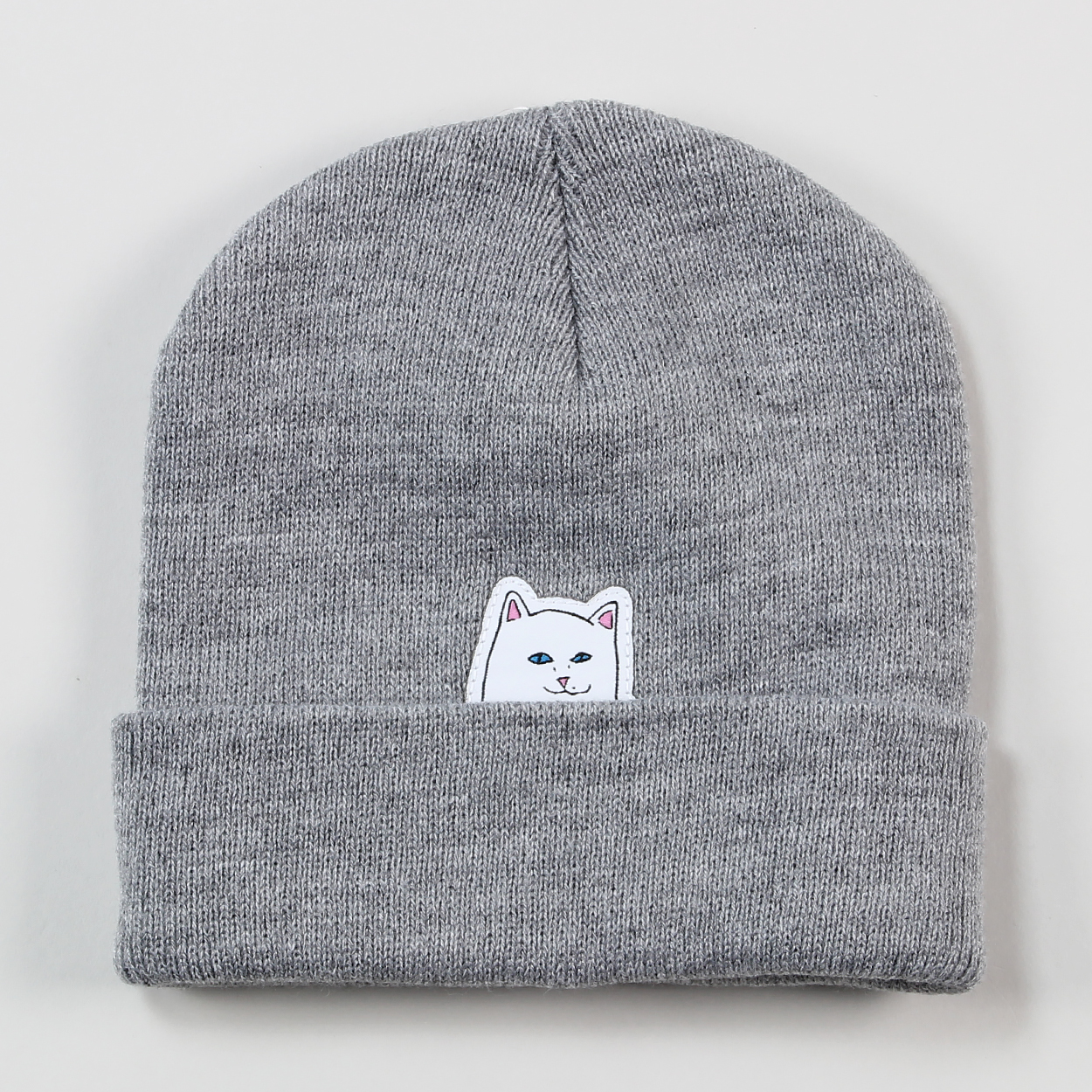 5bd294fcb4c Ripndip Accessories USA Lord Nermal Embroidered Beanie Hat Grey £15.40