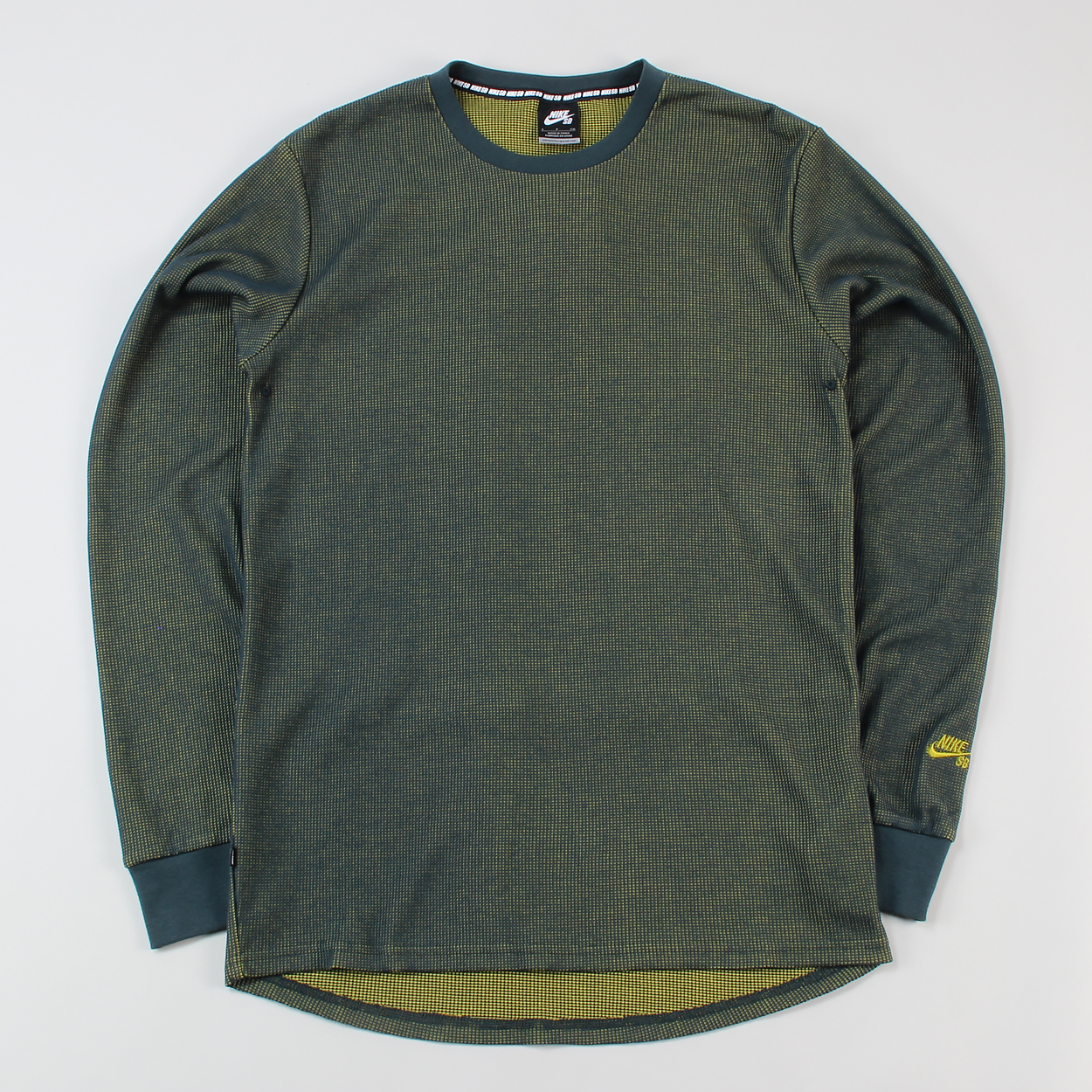 8510a8c33446 Nike SB Mens Cotton Poly Long Sleeve Thermal T Shirt Green £26.25